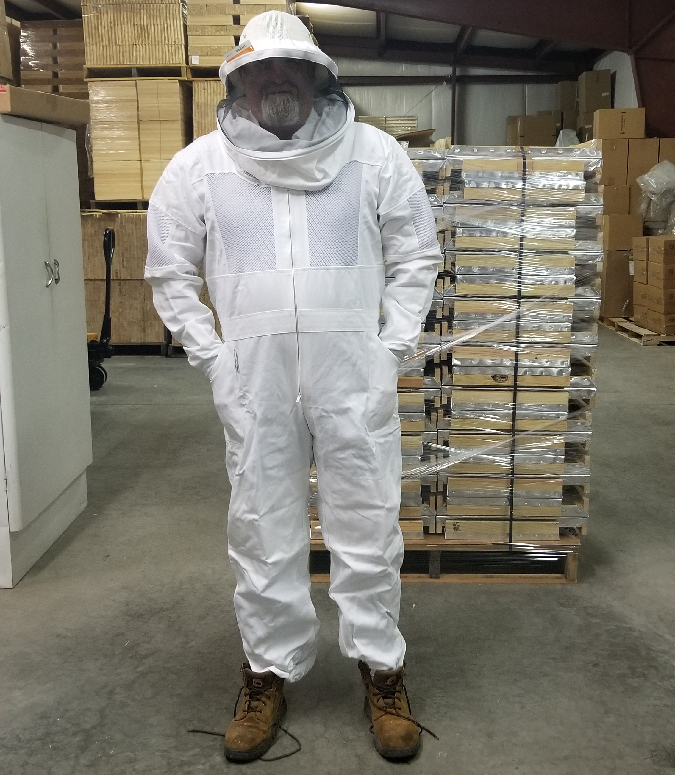 Ventilated Full Suit Round Veil