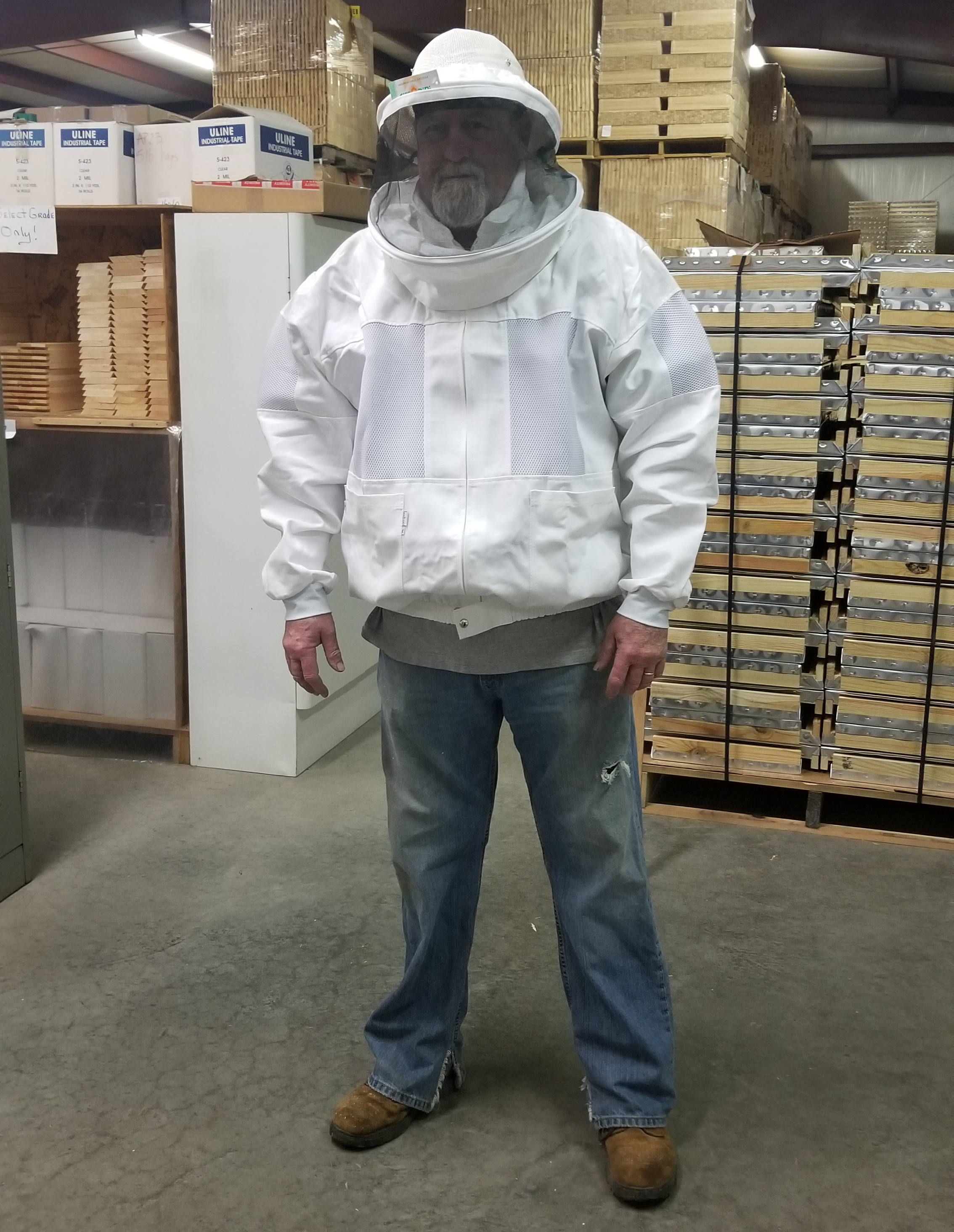 Ventilated Jacket Round Veil