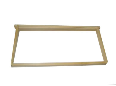 Assembled Frame- 9 1/8 Hive Wedge Top & Slotted Bottom