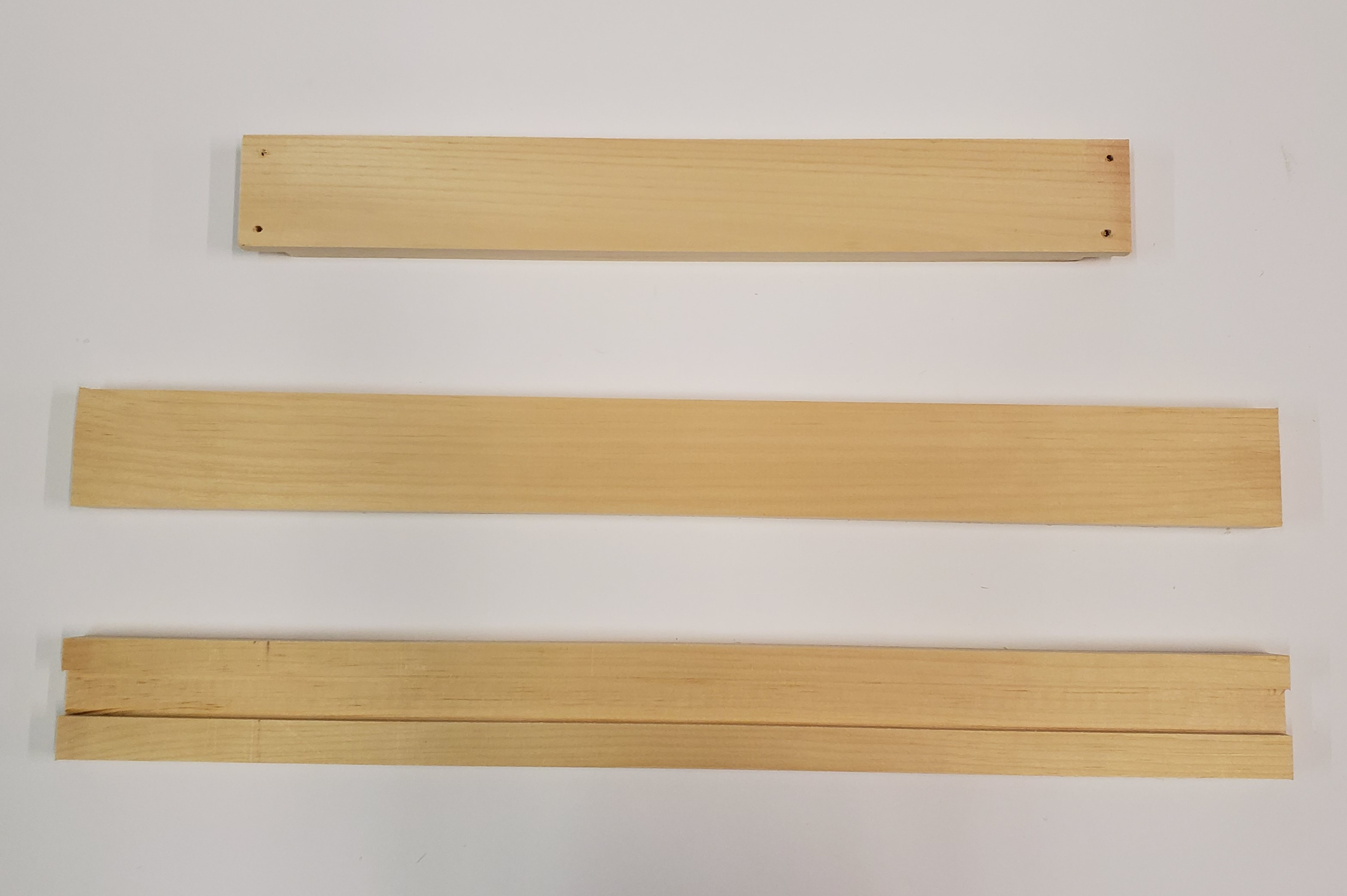 8 Frame Pine Bottom - Rails (3 Pc)