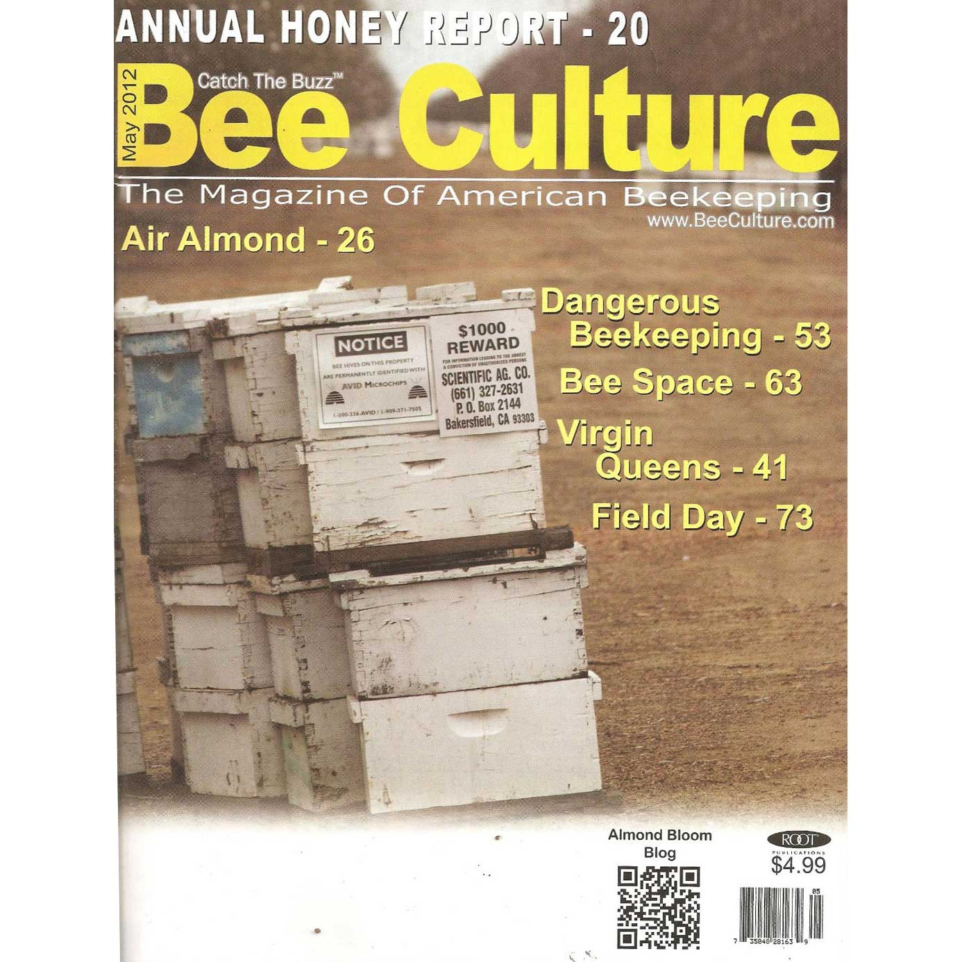 Bee Culture Magazine 2 year Subscription